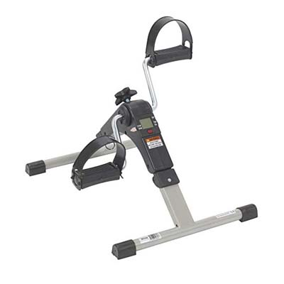 1. Drive Medical Deluxe Folding Exercise Peddler