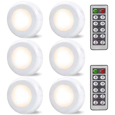 10. SALKING Wireless LED Puck Light, 6 Pack
