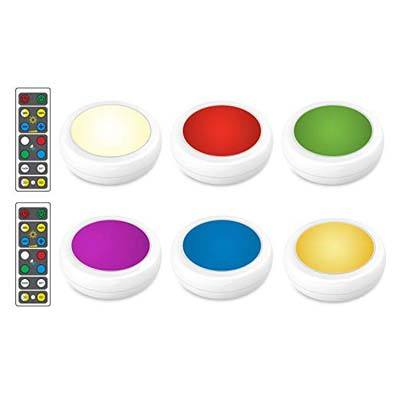 9. Brilliant Evolution Wireless Color Changing LED Puck Light 6 Pack