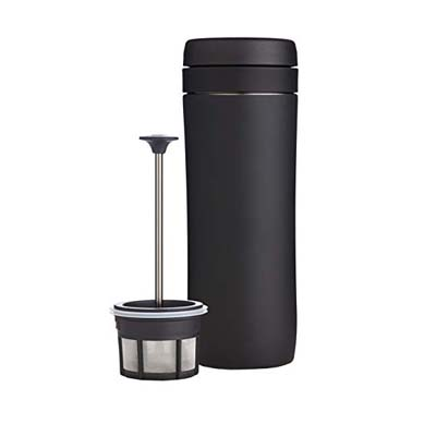 2. Espro Stainless Steel Travel Coffee Press, 12 oz