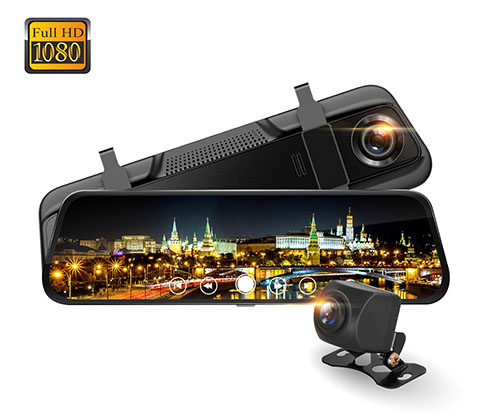 15. Speedal M8 9.66 Inches Mirror Dash Cam