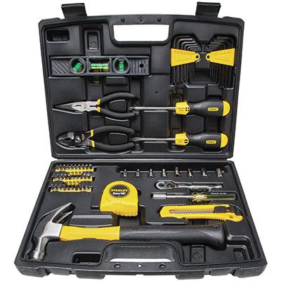 1. STANLEY 65 Piece Homeowner's DIY Tool Kit (94-248)
