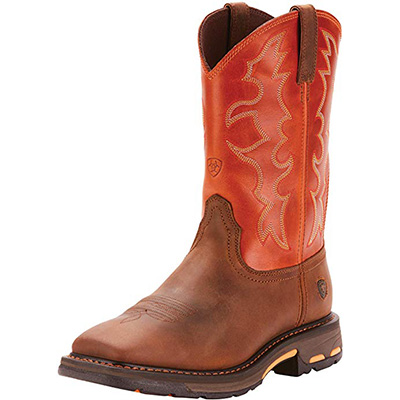2. Ariat Men's Workhog Wide Square Toe Work Boot