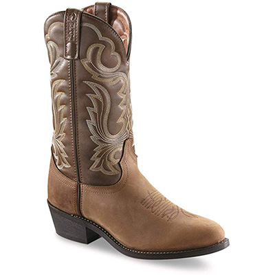 "4. Guide Gear Men's 12"" Cowboy Boots - Tan"