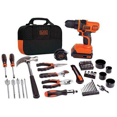 3. BLACK+DECKER 20V MAX Drill & Home Tool Kit (LDX120PK)