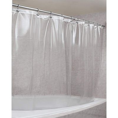 10. EPICA Shower Curtain Liner – Clear