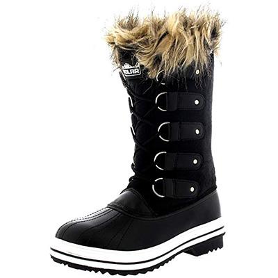 12. POLAR Womens Lace Up Winter Snow Rain Shoe Boots