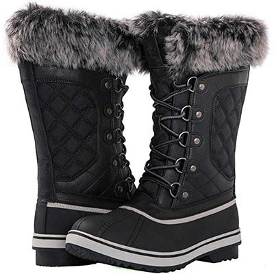 2. Kingshow Women's Globalwin Waterproof Winter Boots