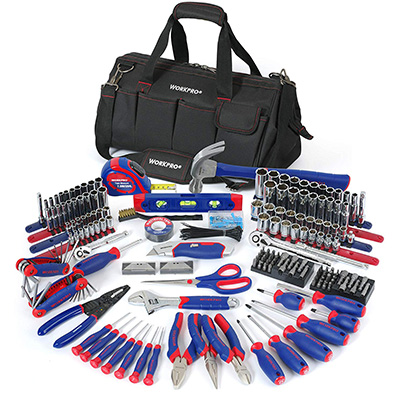 14. WORKPRO 322-Piece Tool Kit with Carrying Bag (W009037A)