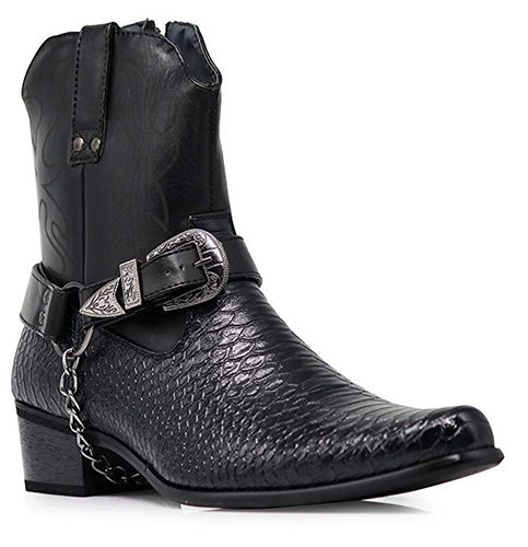 6. Alberto Fellini Men's Crocodile Cowboy Boots