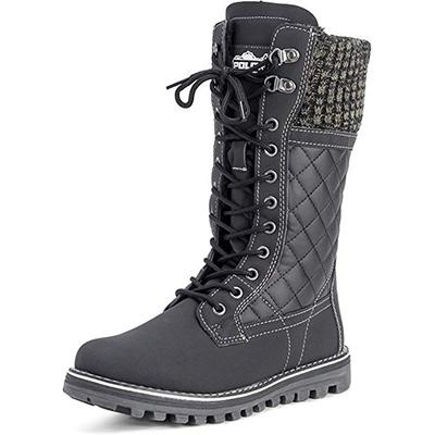 11. POLAR Womens Winter Thermal Snow Waterproof Boot