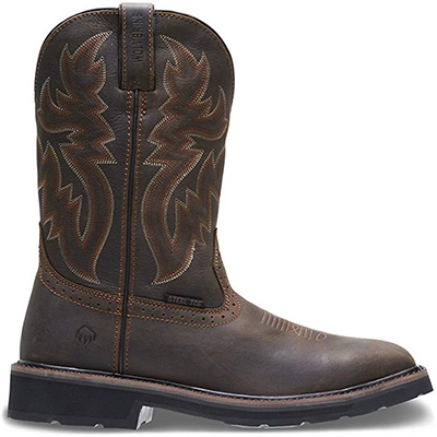 "14. WOLVERINE Men's Rancher 10"" Square Toe Work Boot"