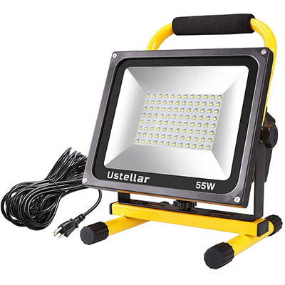 9. Ustellar 5500LM 55W LED Work Light