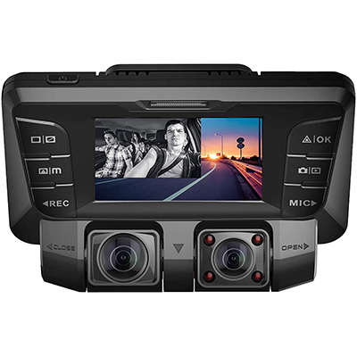 9. Pruveeo Dash Cam with Infrared Night Vision (C2)