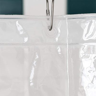 12. LiBa PEVA Lightweight Shower Curtain Liner Set (Pack of 2)