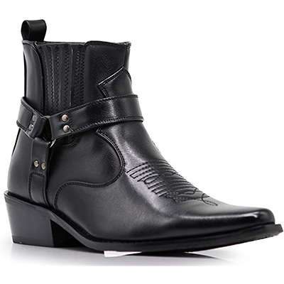 5. Alberto Fellini Men's Western Cowboy Boots (West01)