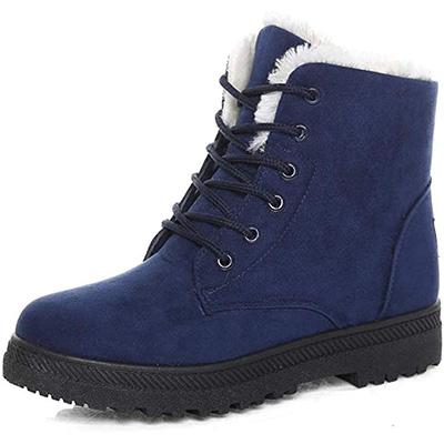 7. Susanny Suede Flat Platform Sneaker Shoes