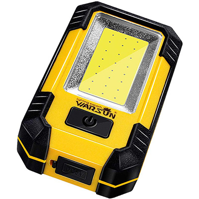 10. WARSUN Portable LED Rechargeable Work Light