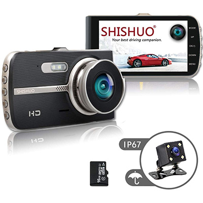 15. SHISHUO Dash Cam Front and Rear