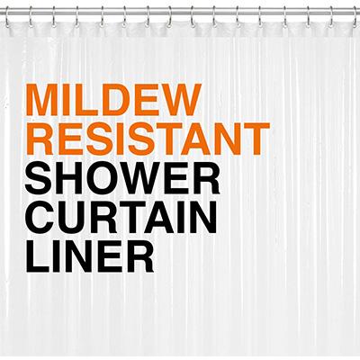 15. LiBa Clear 10G PEVA Shower Curtain Liner