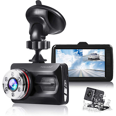12. TOGUARD Dual Cam Front and Rear Car Camera