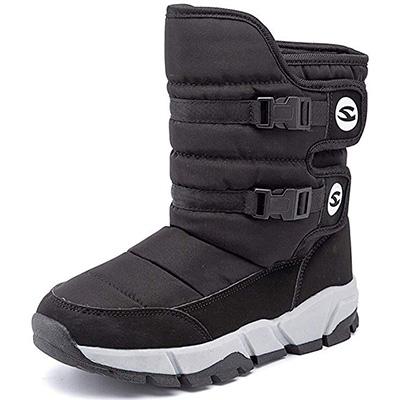 9. ODUOK Womens Mid Calf Snow Boots
